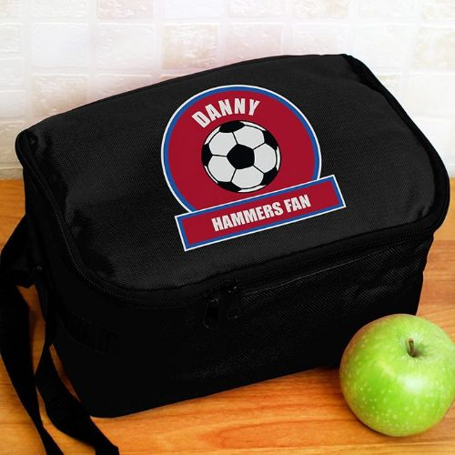 Claret and Blue Football Fan Lunch Bag